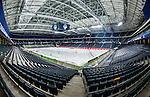 Solna 2014-03-15 Bandy SM-final Damer Kareby IS - AIK  :  <br /> Generell vy &ouml;ver bandyplanen p&aring; Friends Arena <br /> (Foto: Kenta J&ouml;nsson) Nyckelord:  SM SM-final final dam damer Kareby AIK inomhus interi&ouml;r interior