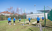 Picture by Allan McKenzie/SWpix.com - 05/04/2018 - Cricket - Yorkshire County Cricket Club Training - Headingley Cricket Ground, Leeds, England - A general view of Yorkshire netting outdoors.