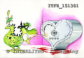 Fabrizio, CUTE ANIMALS, comic, paintings, ITFZ151381,#AC# illustrations pinturas ,everyday