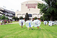 Students compete in Bubble Brawl Soccer in the Junction during Dawg Daze. (photo by Beth Wynn / © Mississippi State University)
