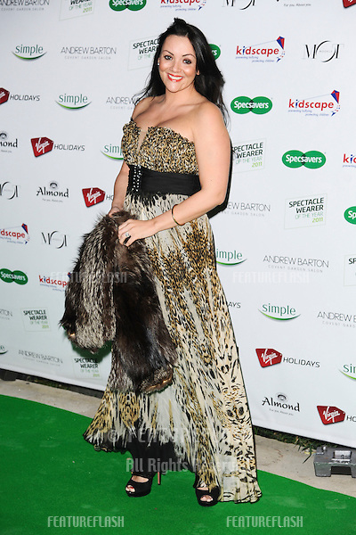 Martine McCutcheon arriving for the Spectacle Wearer of the Year 2011 Awards, London. 16/11/2011  Picture by: Steve Vas / Featureflash