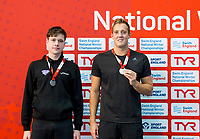 Picture by Allan McKenzie/SWpix.com - 13/12/2017 - Swimming - Swim England Winter Championships - Ponds Forge International Sport Centre - Sheffield, England - Billy Wotton & Andrew Willis take silver in the mens open 200m breaststroke.