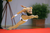 Filipa Siderova of Bulgaria split leaps on way to  winning bronze in junior All-Around at 2006 Trofeo Cariprato in Prato, Italy on June 17, 2006.  (Photo by Tom Theobald)