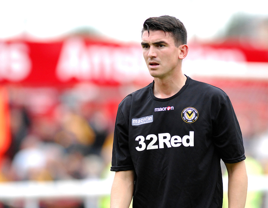 Newport County's Billy Jones during the pre-match warm-up <br /> <br /> Photo by Ashley Crowden/CameraSport<br /> <br /> Football - The Football League Sky Bet League Two - Exeter City v Newport County - Saturday 21st September 2013 - St James Park - Exeter<br /> <br /> &copy; CameraSport - 43 Linden Ave. Countesthorpe. Leicester. England. LE8 5PG - Tel: +44 (0) 116 277 4147 - admin@camerasport.com - www.camerasport.com