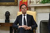 Prime Minister Mark Rutte of the Netherlands looks on during a meeting with US President Donald Trump in the Oval Office of the Washington, D.C., on July 18, 2019. <br /> Credit: Olivier Douliery / Pool via CNP
