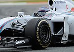 William's Valtteri Bottas drives during a race at the Circuit de Catalunya on May 11, 2014. <br /> PHOTOCALL3000/PD