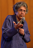 Grawemeyer Award in Religion 2013 winner Dr. Leila Ahmed talks during the Louisville Presbyterian Theological Seminary's Engagement Week 2013.