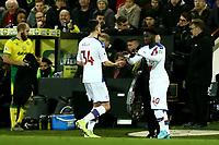 1st January 2020; Carrow Road, Norwich, Norfolk, England, English Premier League Football, Norwich versus Crystal Palace; Brandon Pierrick of Crystal Palace makes his debut as he comes on for Martin Kelly - Strictly Editorial Use Only. No use with unauthorized audio, video, data, fixture lists, club/league logos or 'live' services. Online in-match use limited to 120 images, no video emulation. No use in betting, games or single club/league/player publications