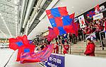 V&auml;ster&aring;s 2015-02-01 Bandy Elitserien V&auml;ster&aring;s SK  - Edsbyns IF :  <br /> Edsbyns supportrar med flaggor under matchen mellan V&auml;ster&aring;s SK  och Edsbyns IF <br /> (Foto: Kenta J&ouml;nsson) Nyckelord:  Bandy Elitserien ABB Arena Syd V&auml;ster&aring;s SK VSK Edsbyn EIF Byn supporter fans publik supporters