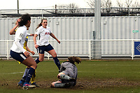 Ryah Vyse of Tottenham Ladies latches on to the loose ball to score the second Spurs goal during Tottenham Hotspur Ladies vs Oxford United Women, FA Women's Super League FA WSL2 Football at Theobalds Lane on 11th February 2018