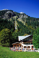 DEU, Deutschland, Bayern, Oberbayern, Allgaeu, Oberstdorf: Jausenstation Einoedsbach im Stillachtal | DEU, Germany, Bavaria, Upper Bavaria, Allgaeu, Oberstdorf: alpine cafe Einoedsbach at Stillach Valley