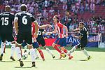 Atletico de Madrid's Filipe Luis and Sevilla's Gabriel Mercado during La Liga match between Atletico de Madrid and Sevilla FC at Wanda Metropolitano Stadium in Madrid, Spain September 23, 2017. (ALTERPHOTOS/Borja B.Hojas)