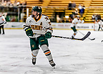 16 February 2019: University of Vermont Catamount Defender Taylor Flaherty, a Senior from Lakeville, MN, in action against the Holy Cross Crusaders at Gutterson Fieldhouse in Burlington, Vermont. The Lady Cats defeated the Crusaders 4-1 to sweep their 2-game weekend series. Mandatory Credit: Ed Wolfstein Photo *** RAW (NEF) Image File Available ***