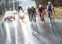 Picture by Alex Broadway/SWpix.com - 05/03/17 - Cycling - 2017 Paris Nice - Stage Two - Rochefort-en-Yvelines to Amilly - The breakaway rides in the rain.