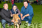 Seamus Magee who entered his dog in the 2016 Tralee & District Canine Dog Show at An Riocht AC,Grounds Castleisland on Satiurday with Paul were, Clodagh and Keith Lynch (Tralee).