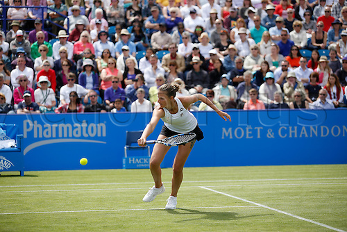 25.06.2016 Eastbourne, England. Aegon International Eastbourne tennis tournament Dominika Cibulkova (SVK) defeats Karolina Pliskova (CZE)  by a score of 7-5, 6-3 in their Women final matchat Devonshire Park.