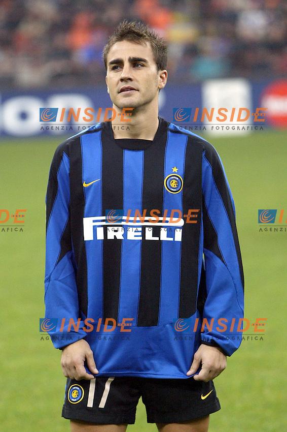 MILANO 25/11/2003 <br /> Champions League Inter Arsenal 1-5<br /> Fabio Cannavaro (Inter)<br /> Photo Andrea Staccioli Insidefoto