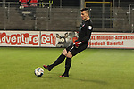 Kevin Mueller (Nr.1, 1.FC Heidenheim) am Ball  beim Spiel in der 2. Bundesliga, SV Sandhausen - 1. FC Heidenheim 1846.<br /> <br /> Foto © PIX-Sportfotos *** Foto ist honorarpflichtig! *** Auf Anfrage in hoeherer Qualitaet/Aufloesung. Belegexemplar erbeten. Veroeffentlichung ausschliesslich fuer journalistisch-publizistische Zwecke. For editorial use only. For editorial use only. DFL regulations prohibit any use of photographs as image sequences and/or quasi-video.