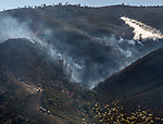 September 27, 2016: Marshes Fire near Moccasin, California.  The Marshes Fire was a 2016 wildfire that burned just north of the Don Pedro Reservoir in Tuolumne County, California. The fire, which started on September 26, burned 1,080 acres of land from before being contained on October 4.  Photo By Al Golub/Golub Photography