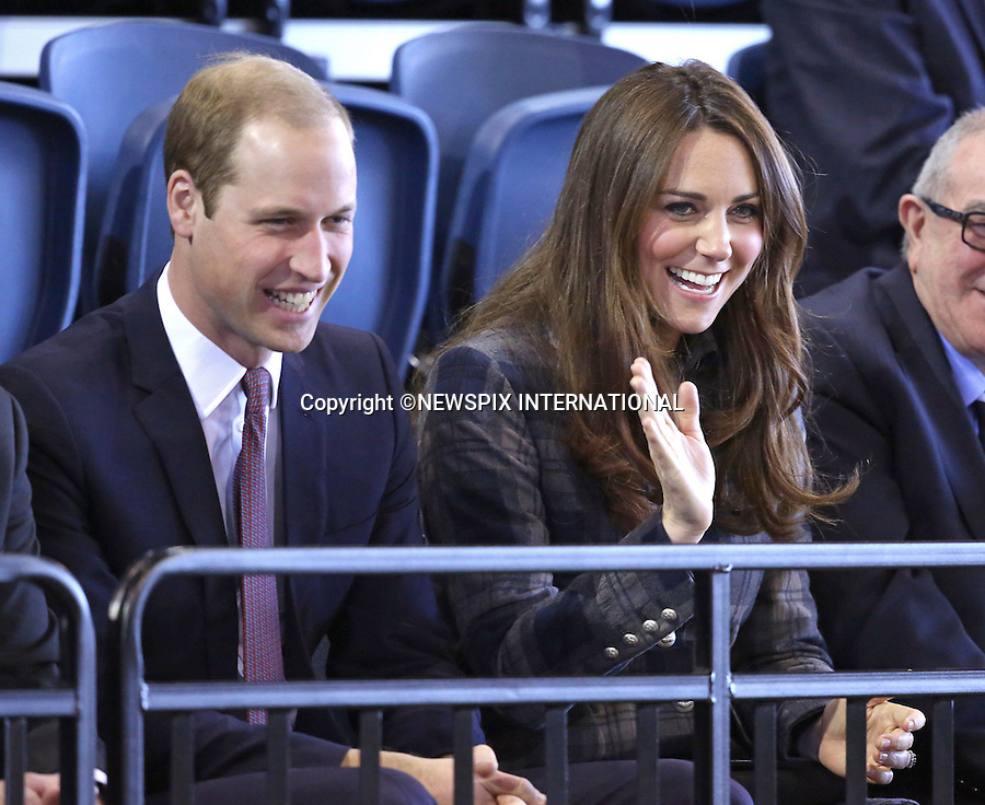 """CATHERINE, DUCHESS OF CAMBRIDGE AND PRINCE WILLIAM.toured the Emirates Arena that will play host to several events at the 2014 Glasgow Commonwealth Games_04/04/2013.Mandatory Credit Photo: ©Butler/DiasImages..**ALL FEES PAYABLE TO: """"NEWSPIX INTERNATIONAL""""**..IMMEDIATE CONFIRMATION OF USAGE REQUIRED:.Newspix International, 31 Chinnery Hill, Bishop's Stortford, ENGLAND CM23 3PS.Tel:+441279 324672  ; Fax: +441279656877.Mobile:  07775681153.e-mail: info@newspixinternational.co.uk"""