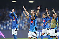 Lorenzo Insigne of SSC Napoli celebrate with team mates at the end of the match <br /> Napoli 17-9-2019 Stadio San Paolo <br /> Football Champions League 2019/2020 <br /> SSC Napoli - Liverpool FC <br /> Photo Cesare Purini / Insidefoto