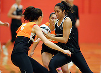 13.09.2016 Silver Ferns Phoenix Karaka in action during training ahead of their second netball match tomorrow night between the Silver Ferns and Jamaica in Palmerston North. Mandatory Photo Credit ©Michael Bradley.