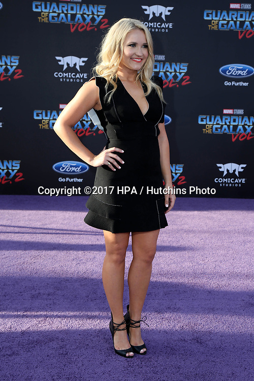 "LOS ANGELES - APR 19:  Emily Osment at the ""Guardians of the Galaxy Vol. 2"" Los Angeles Premiere at the Dolby Theater on April 19, 2017 in Los Angeles, CA"