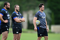 Francois Louw of Bath Rugby looks on. Bath Rugby pre-season training session on July 28, 2017 at Farleigh House in Bath, England. Photo by: Patrick Khachfe / Onside Images
