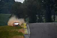 IMSA Continental Tire SportsCar Challenge<br /> Biscuitville Grand Prix<br /> Virginia International Raceway, Alton, VA USA<br /> Saturday 26 August 2017<br /> 65, Porsche, Porsche Cayman, ST, Tim Probert, Brent Mosing off track<br /> World Copyright: Scott R LePage<br /> LAT Images