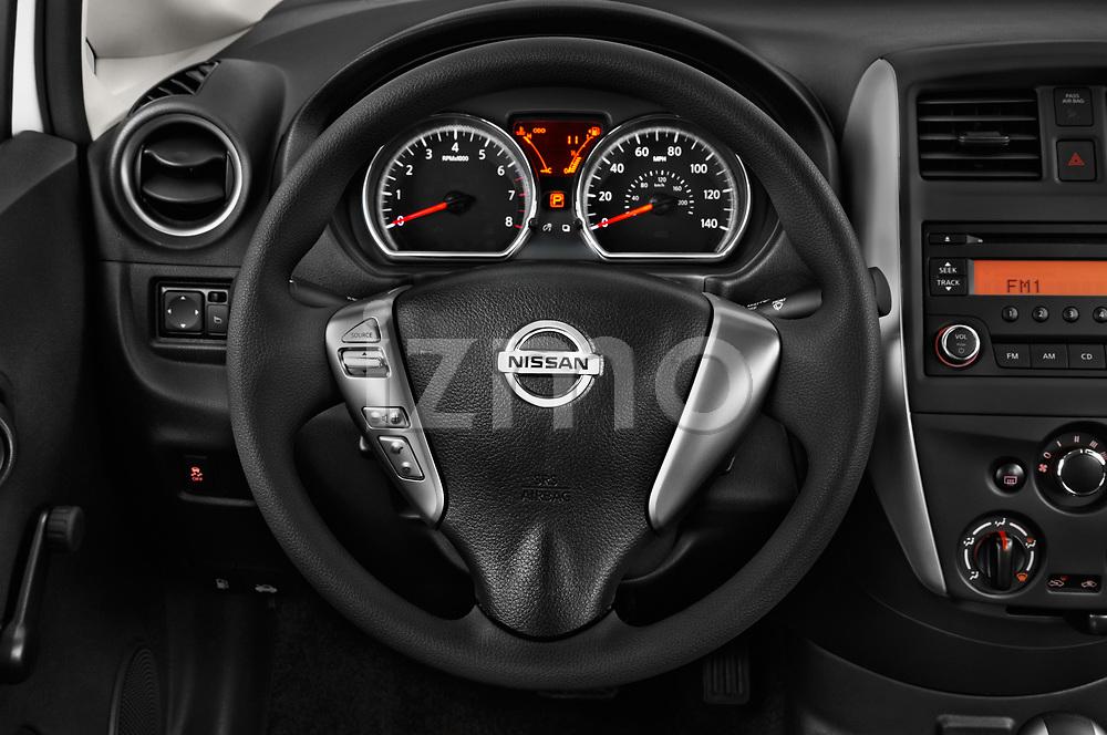 Car pictures of steering wheel view of a 2018 Nissan Versa Note S 5 Door Hatchback