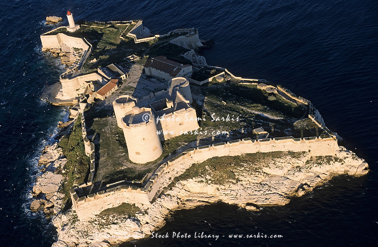 Chateau d'If Castle island, Marseille, France (aerial view)
