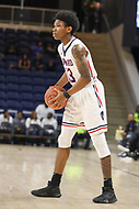 Washington, DC - December 22, 2018: Howard Bison guard Charles Williams (13) sets up the offense during the DC Hoops Fest between Hampton and Howard at  Entertainment and Sports Arena in Washington, DC.   (Photo by Elliott Brown/Media Images International)