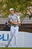 HaoTong Li (CHN) watches his tee shot on 1 during day 4 of the WGC Dell Match Play, at the Austin Country Club, Austin, Texas, USA. 3/30/2019.<br /> Picture: Golffile | Ken Murray<br /> <br /> <br /> All photo usage must carry mandatory copyright credit (© Golffile | Ken Murray)