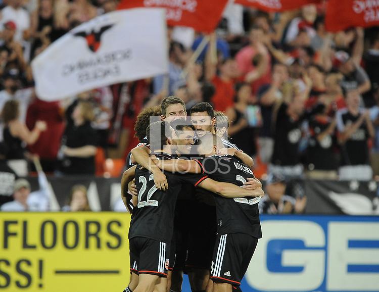 Washington D.C. - August 1, 2015: D.C. United defeated Real Salt Lake 6-4 during a 2015 MLS regular season game at RFK Stadium.