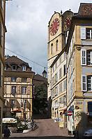 Europe/Suisse/Jura Suisse/ Neuchâtel:  rue du Château et Tour de Diesse