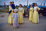 Afrikaner children dressed in traditional clothing at a farm show in Orania. The annual, three-day event attracts visitors from neighboring villages and cities. (Photo by: Per-Anders Pettersson)