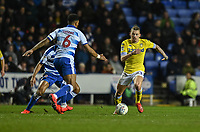 Leeds United's Kalvin Phillips (right) under pressure from Reading's Liam Moore (left) <br /> <br /> Photographer David Horton/CameraSport<br /> <br /> The EFL Sky Bet Championship - Reading v Leeds United - Tuesday 12th March 2019 - Madejski Stadium - Reading<br /> <br /> World Copyright &copy; 2019 CameraSport. All rights reserved. 43 Linden Ave. Countesthorpe. Leicester. England. LE8 5PG - Tel: +44 (0) 116 277 4147 - admin@camerasport.com - www.camerasport.com