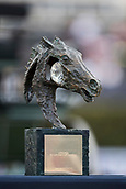 28th September 2017, Real Club de Polo de Barcelona, Barcelona, Spain; Longines FEI Nations Cup, Jumping Final; The trophy on display during the competition