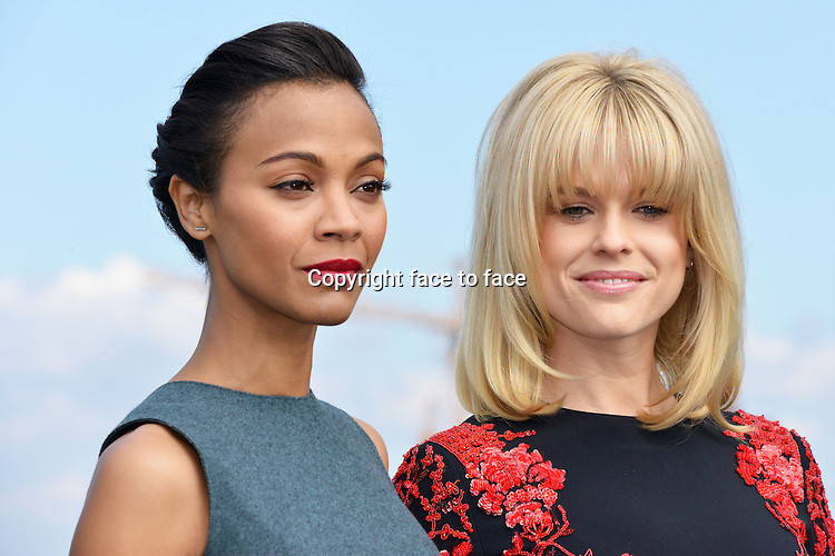 "Zoe Saldana (actress and film producer) and Alice Eve (actress) attending the Photocall of ""STAR TREK INTO DARKNESS"" at the China Club in Berlin. Berlin 28.04.2013. Credit Timm/face to face"