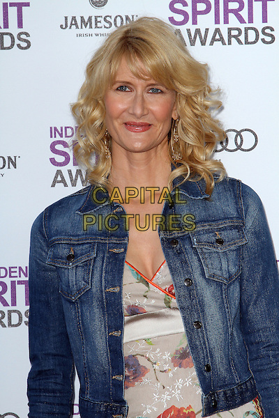 Laura Dern.2012 Film Independent Spirit Awards held at Santa Monica Beach, Santa Monica, California, USA, .25th February 2012..indie indies half length denim jacket .CAP/ADM/KB.©Kevan Brooks/AdMedia/Capital Pictures.