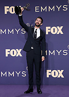 LOS ANGELES - SEPTEMBER 22:  Ben Whishaw with the award for Outstanding Supporting Actor in a Limited Series or Movie at the 71st Primetime Emmy Awards at the Microsoft Theatre on September 22, 2019 in Los Angeles, California. (Photo by Xavier Collin/Fox/PictureGroup)