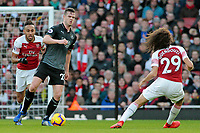 Burnley's Kevin Long tries to find a way past Arsenal's Matteo Guendouzi<br /> <br /> Photographer David Shipman/CameraSport<br /> <br /> The Premier League - Arsenal v Burnley - Saturday 22nd December 2018 - The Emirates - London<br /> <br /> World Copyright © 2018 CameraSport. All rights reserved. 43 Linden Ave. Countesthorpe. Leicester. England. LE8 5PG - Tel: +44 (0) 116 277 4147 - admin@camerasport.com - www.camerasport.com
