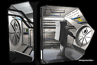 This is a cutaway of the airlock portion of the set.