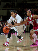 STANFORD, CA - February  10, 2011: Stanford Cardinal's Melanie Murphy during the Stanford 100-59 win over Washington State at Maples Pavilion in Stanford, California.