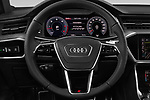 Car pictures of steering wheel view of a 2018 Audi A7 Sportback S Line 5 Door Hatchback