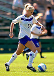 2 September 2007: University of Central Arkansas Sugar Bears' Julie Shoffstall, a Senior from San Antonio, Texas, in action against the University of New Hampshire Wildcats at Historic Centennial Field in Burlington, Vermont. The Wilcats shut out the Sugar Bears 3-0 during the TD Banknorth Soccer Classic...Mandatory Photo Credit: Ed Wolfstein Photo