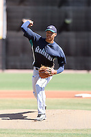 Taijuan Walker #52 of the Seattle Mariners pitches in an extended spring training game against the Kansas City Royals at the Mariners complex on April 30, 2011  in Peoria, Arizona. .Photo by:  Bill Mitchell/Four Seam Images.