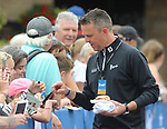 England's Graeme Swan with fans <br /> <br /> Golf - Day 1 - Celebrity Cup 2018 - Saturday 30th June 2018 - Celtic Manor Resort  - Newport<br /> <br /> &copy; www.sportingwales.com- PLEASE CREDIT IAN COOKCelebrity Cup 2018<br /> Celtic Manor Resort<br /> 30.06.18<br /> &copy;Steve Pope <br /> Fotowales