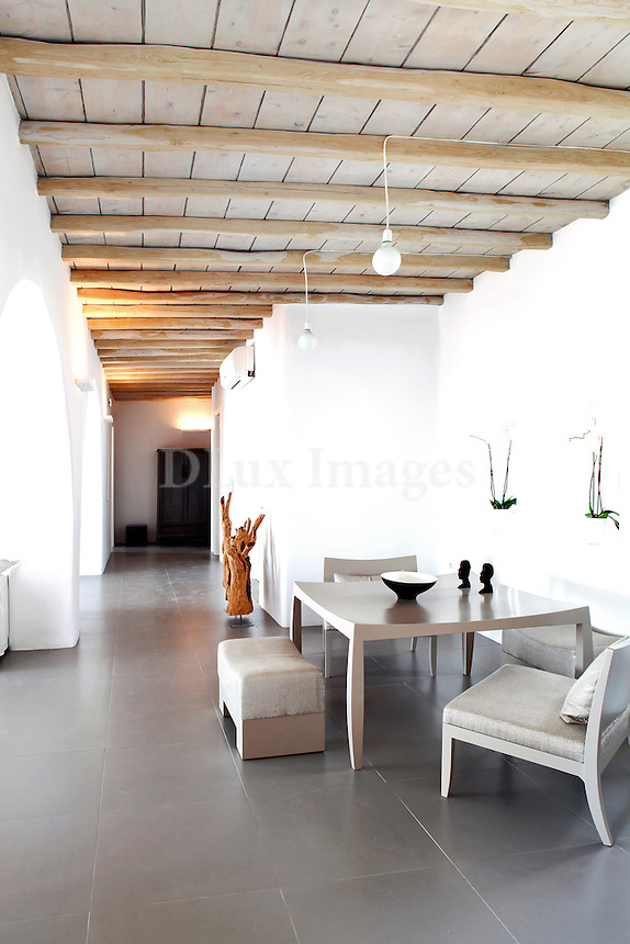 cycladic dining room