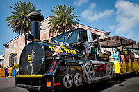 Conch Train tour through Key West near historic Mallory Square, Key West, Florida, USA, Feb. 22, 2011. Photo by Debi Pittman Wilkey